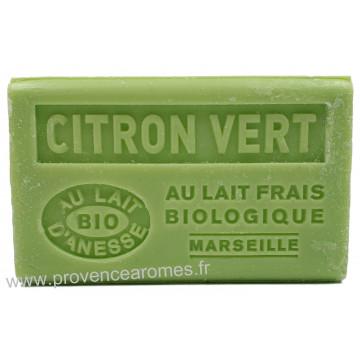 Savon Citron vert au lait d'ânesse frais Bio 125 gr