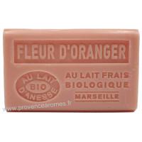 Savon Fleur d'oranger au lait d'ânesse frais Bio 125 gr
