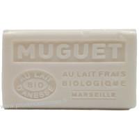 Savon Muguet au lait d'ânesse frais Bio 125 gr