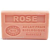 Savon Rose au lait d'ânesse frais Bio 125 gr