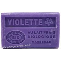 Savon Violette au lait d'ânesse frais Bio 125 gr