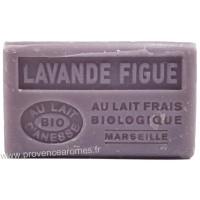Savon Lavande Figue au lait d'ânesse frais Bio 125 gr