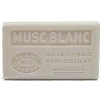 Savon Musc Blanc au lait d'ânesse frais Bio 125 gr