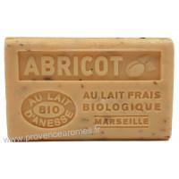 Savon Abricot exfoliant au lait d'ânesse frais Bio 125 gr