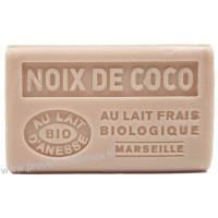 Savon Noix de Coco au lait d'ânesse frais Bio 125 gr