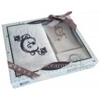 Coffret cadeau personnalisé initiale lettre C