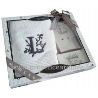 Coffret cadeau personnalisé initiale lettre L