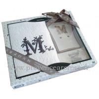 Coffret cadeau personnalisé initiale lettre M