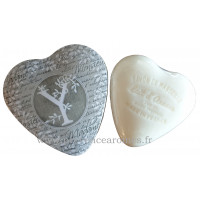Boîte en forme de cœur déco lettre Y et son savon Lait d'ânesse