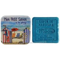 Boîte carrée Mon petit savon à la plage et son savon marine