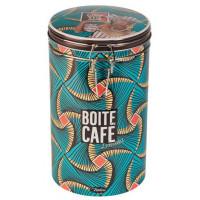 Boîte à café ronde LE GOÛT DU VOYAGE Natives déco rétro vintage
