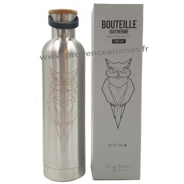 Bouteille isotherme inox Hibou Label'tour 500 ml