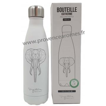 Bouteille isotherme blanche Eléphant Label'tour 500 ml