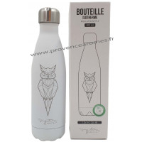Bouteille isotherme blanche Hibou Label'tour 500 ml
