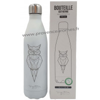 Bouteille isotherme blanche Hibou Label'tour 750 ml