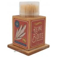 Boîte à Cure dents LA REINE DE LA BOÎTE Natives déco rétro vintage