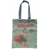 Sac coton Tote bag WONDER MAMAN Natives déco rétro vintage