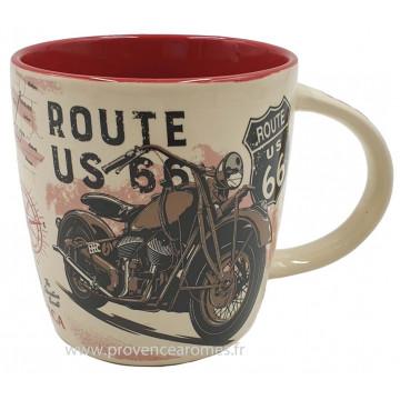 Mug ROUTE 66 BIKE MAP déco rétro vintage
