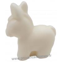 Savon en forme de Petit âne blanc au lait d'ânesse Bio 60 gr