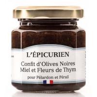 Confit d'olives noires miel et fleurs de thym L'épicurien - 110g