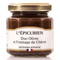 Duo Olives et Fromage de Chèvre L'épicurien - 100g