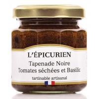 Tapenade Noire Tomates Séchées et Basilic L'épicurien - 100g