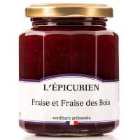 Confiture de Fraise et fraise des bois L'épicurien - 330g