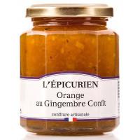 Confiture d'orange gingembre confit L'épicurien - 330g