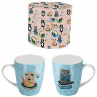 Mug CRAZY CAT ALLEN DESIGNS dans coffret