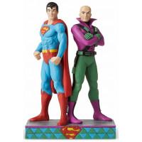SUPERMAN ET LEX LUTHOR figurine DC Comics Silver age collection Jim Shore