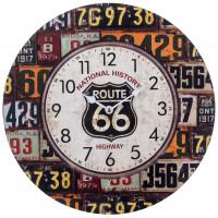 Horloge ROUTE 66 déco rétro vintage