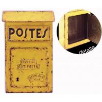 Boîte à clés métal Boîte Poste jaune