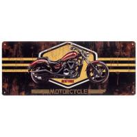 Plaque métal 50 cm NEW YORK MOTORCYCLE