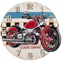Horloge métal MOTO CLASSIC GARAGE déco rétro vintage