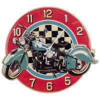 Horloge métal MOTO déco rétro vintage