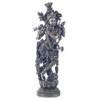 Statuette KRISHNA 37 cm effet bronze