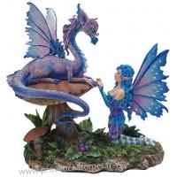 Figurine La Fée et le dragon 22 cm