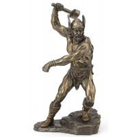 Statuette THOR 27 cm effet bronze