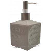 Pousse distributeur de Savon liquide en forme de cube Savon de Marseille couleur gris clair