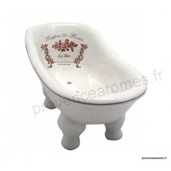 porte savon c ramique baignoire ancienne parfum de roses. Black Bedroom Furniture Sets. Home Design Ideas