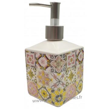 Distributeur de savon liquide cube Mosaïque couleur pastel