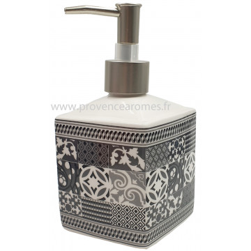 Distributeur de savon liquide cube Mosaïque couleur gris