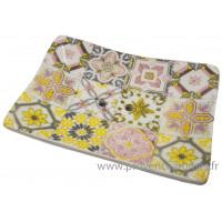 Porte savon rectangle mosaïque couleur pastel