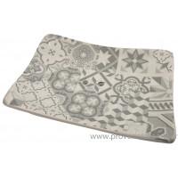 Porte savon rectangle mosaïque couleur gris clair