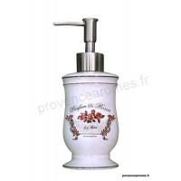 Distributeur céramique savon liquide déco Parum Rose