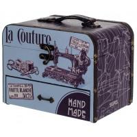 Boîte mallette à couture déco rétro rétro vintage