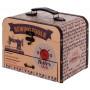 Boîte mallette à couture TAILOR SHOP déco rétro rétro vintage