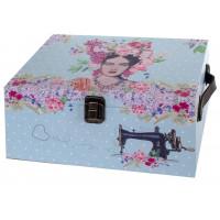 Boîte à couture déco rétro rétro vintage style Frida