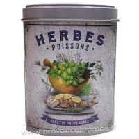 Herbes Poisson de Provence Boîte saupoudreur déco rétro Esprit Provence