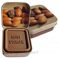 Boîte et savon d'invité à l'huile d'argan Bio Esprit Provence